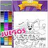 Juegos niños color conejo