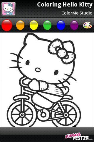 Captura de pantalla del juego ColorMe: Hello Kitty